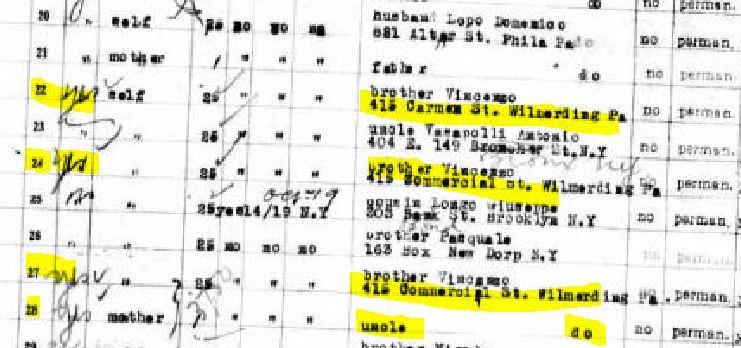 42b-Passenger List Immigration close-up