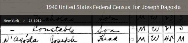 47-Giuseppe D'Agosto in New York 1940 Fed Census 2