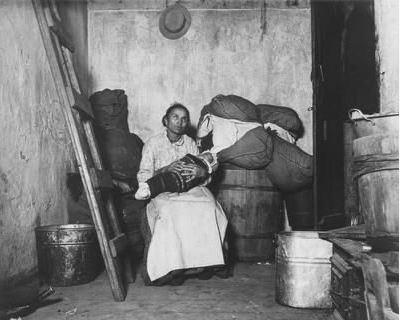 47-Italian immigrant rag picker at home