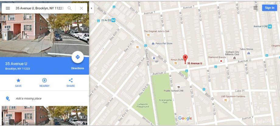48-35 Ave U Map