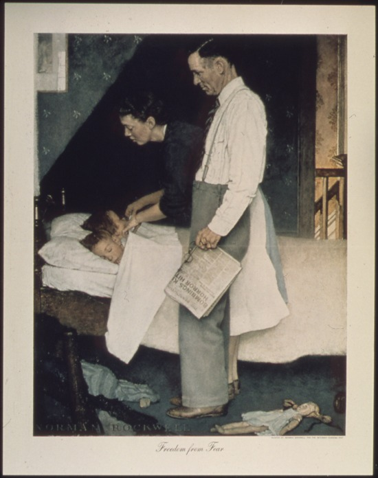 49a-Father's Day 2017 Freedom from Fear Norman Rockwell