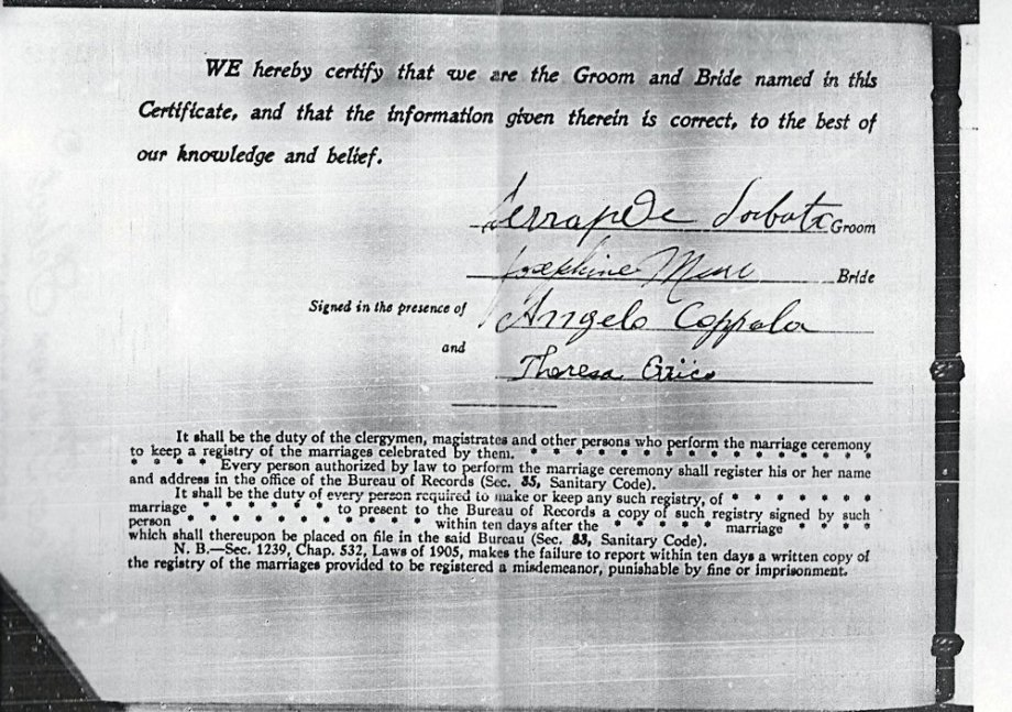 50-Marriage Cert Josie and Sam page 2