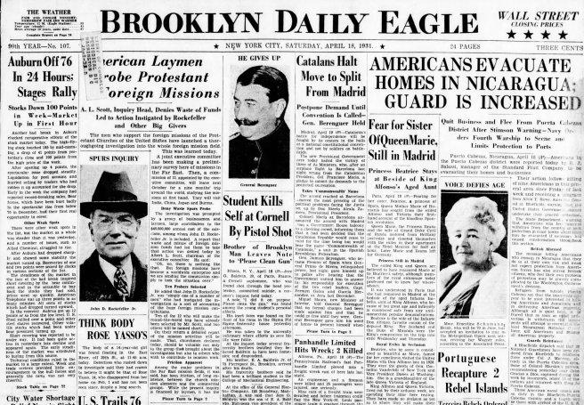 51-The_Brooklyn_Daily_Eagle_Sat__Apr_18__1931_snap shot headline pg 1