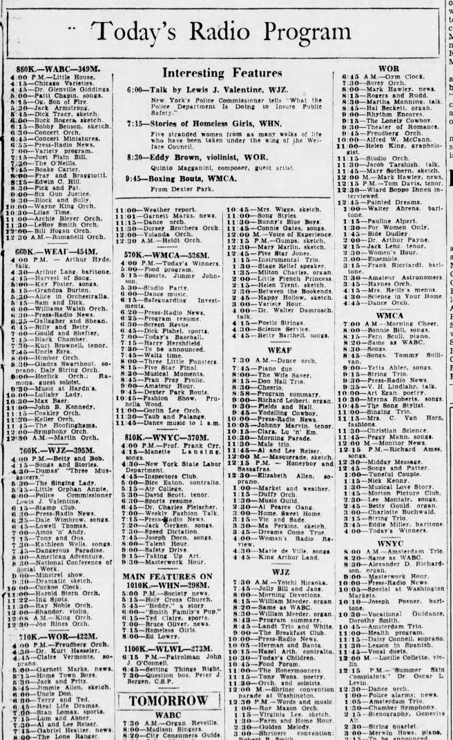 54b-Bklyn Daily Eagle-Radio rograms-June 10 1935