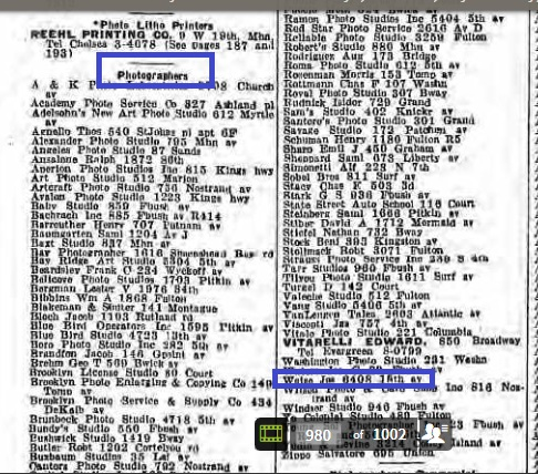 54c-Joseph Weise 1933 Brooklyn Directory